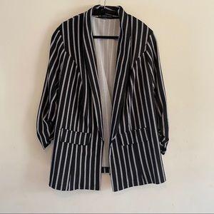 Fashion to Figure Striped Blazer Size 1 (1X)